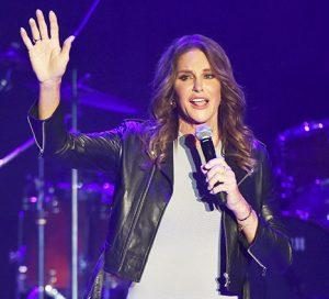 Caitlyn on stage.