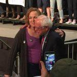 Bernie Sanders with Jenny Seibert.