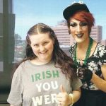 Heart transplant girl with drag queen.