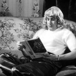 Ed Wood relaxing in his angora sweater.