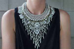 """A """"statement"""" necklace."""